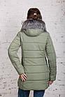 Женская куртка с экомехом на зиму модель 2019 - (модель кт-354), фото 4