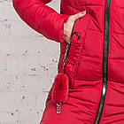 Женская куртка с экомехом на зиму модель 2019 - (модель кт-354), фото 5