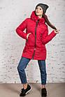 Женская куртка с экомехом на зиму модель 2019 - (модель кт-354), фото 6