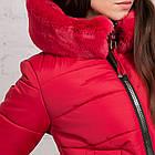 Женская куртка с экомехом на зиму модель 2019 - (модель кт-354), фото 7
