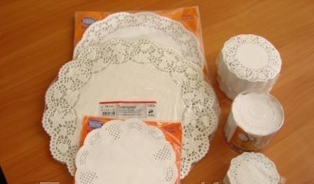 Ажурная салфетка под торт круглые D32cм (код 01855)