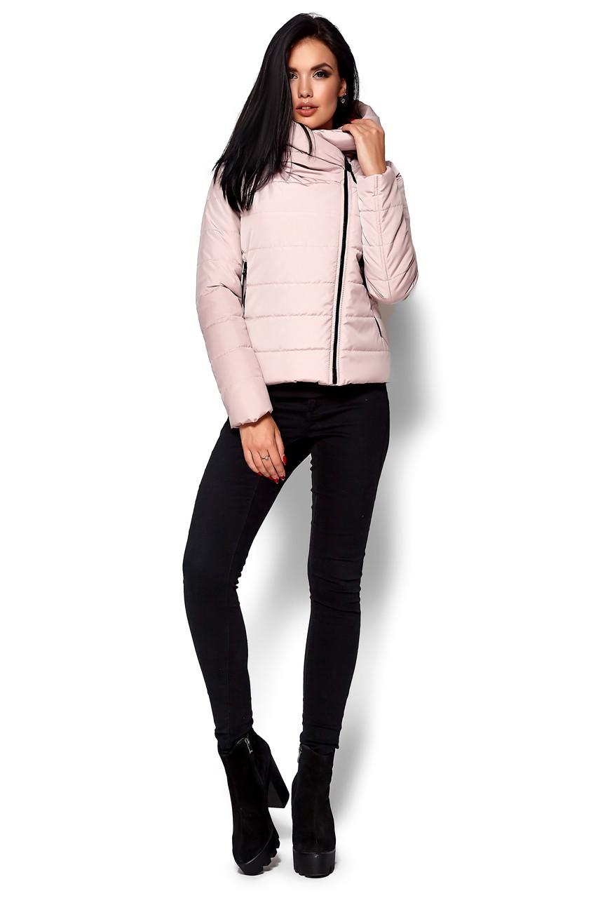 Демисезонная розовая женская куртка, размеры от 42 до 48