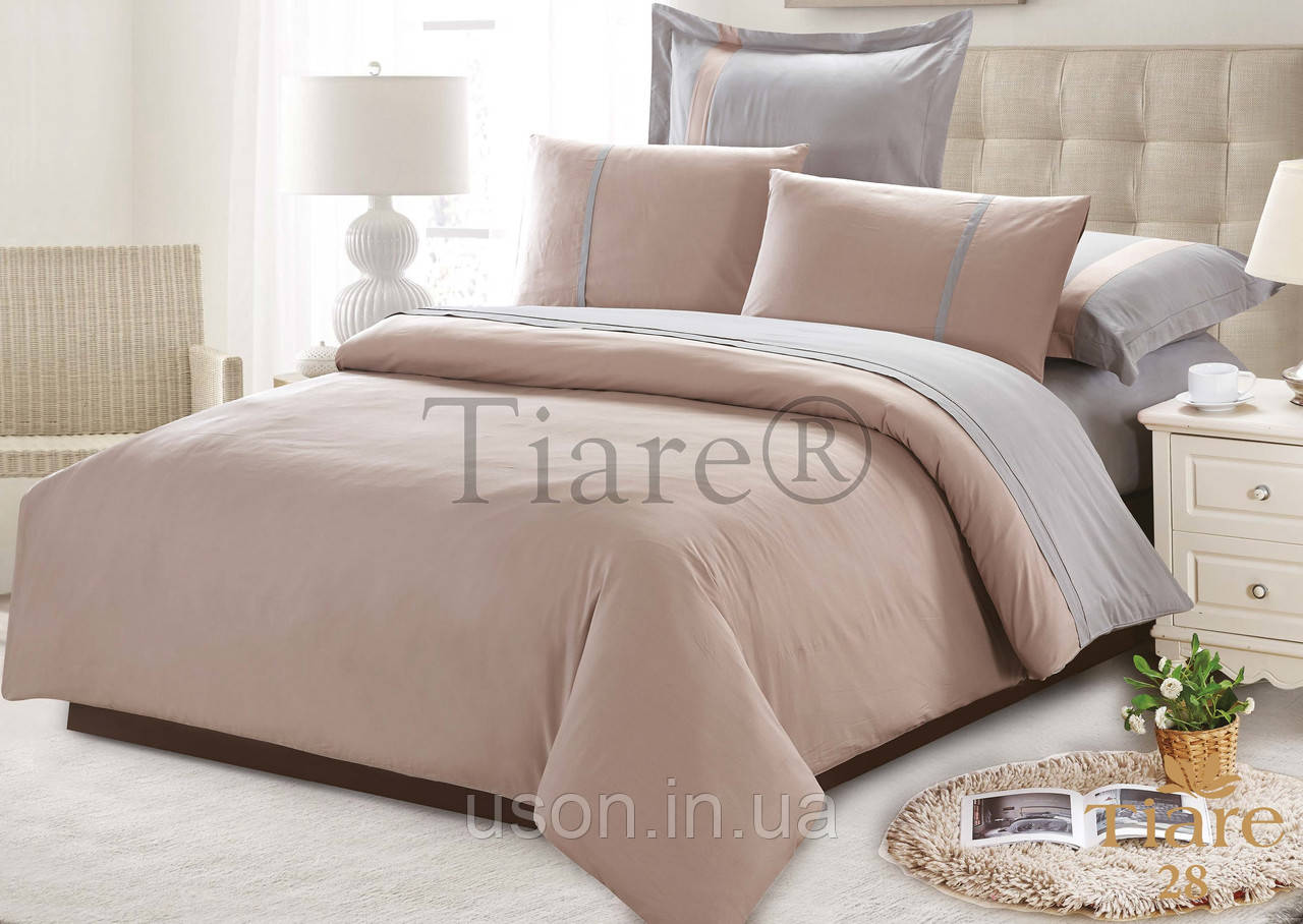 Комплект постельного белья сатин однотонный тиара вилюта евро размер 28