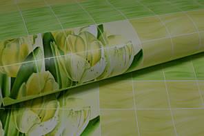 Обои на стену,  бумажные, цветы, зеленый, желтый,  В 56,4  Букет 6531-04, 0,53*10м, фото 2