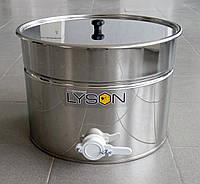 Отстойник для меда с краном, пищевая нержавейка 30 литров.LYSON Польша