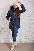 Женская куртка с экомехом на зиму модель 2019 - (модель кт-358), фото 1