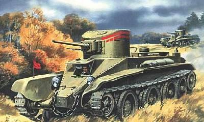 БТ - 2 колісно-гусеничний танк. Збірна модель в масштабі 1/72. UMT 302, фото 2