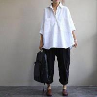 Костюм льняные брюки и удлиненная рубаха, бохо стиль, casual style, фото 1