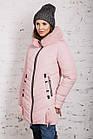 Женская зимняя куртка с экомехом на модель 2019 - (модель кт-359), фото 4