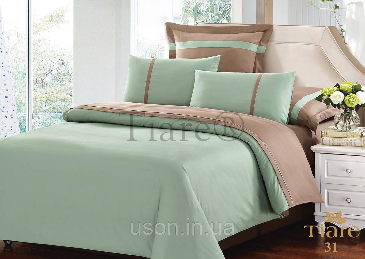 Комплект постельного белья сатин однотонный тиара вилюта евро 31