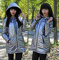 Трендовая куртка цвета Никель