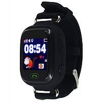 Детские часы Q90 с 1.22 OLED дисплеем и GPS трекером черные