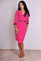 Торжественное женское платье миди малиновое  размер 44,46,48