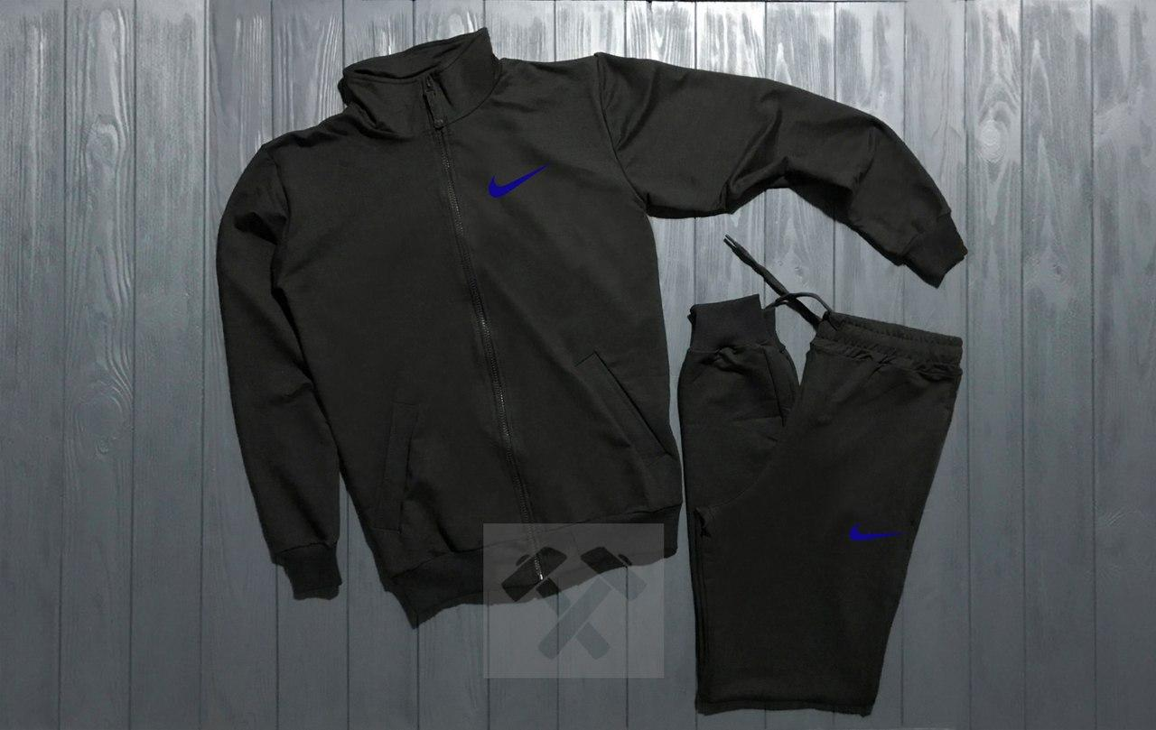 Спортивный костюм на молнии Nike черный топ реплика