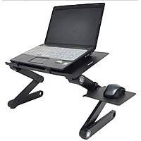 Столик для ноутбука Laptop Table T8, подставка для ноутбука с кулером на кровать, диван, стол