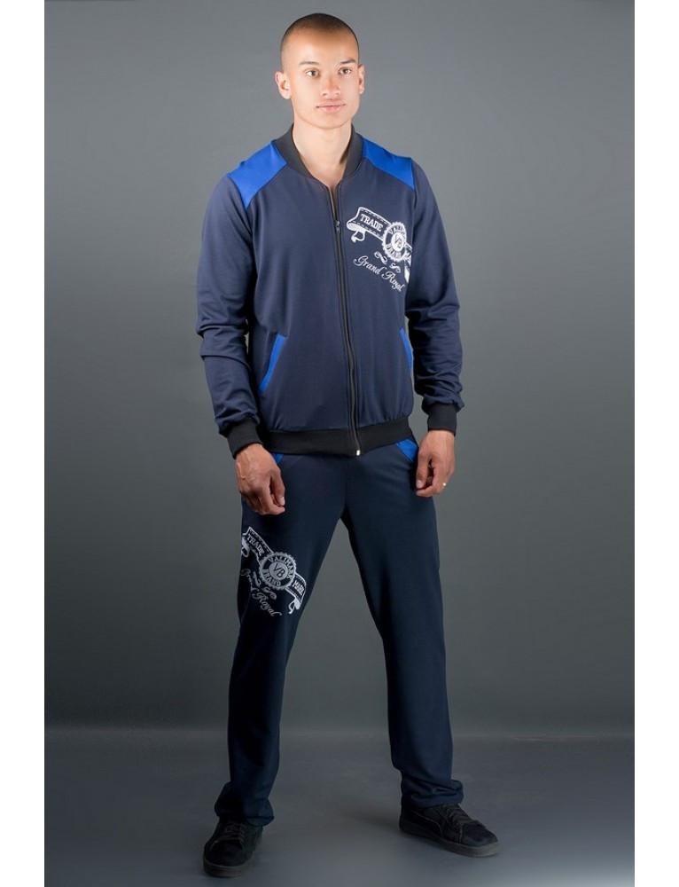 Спортивный  костюм Митчел синий/черный