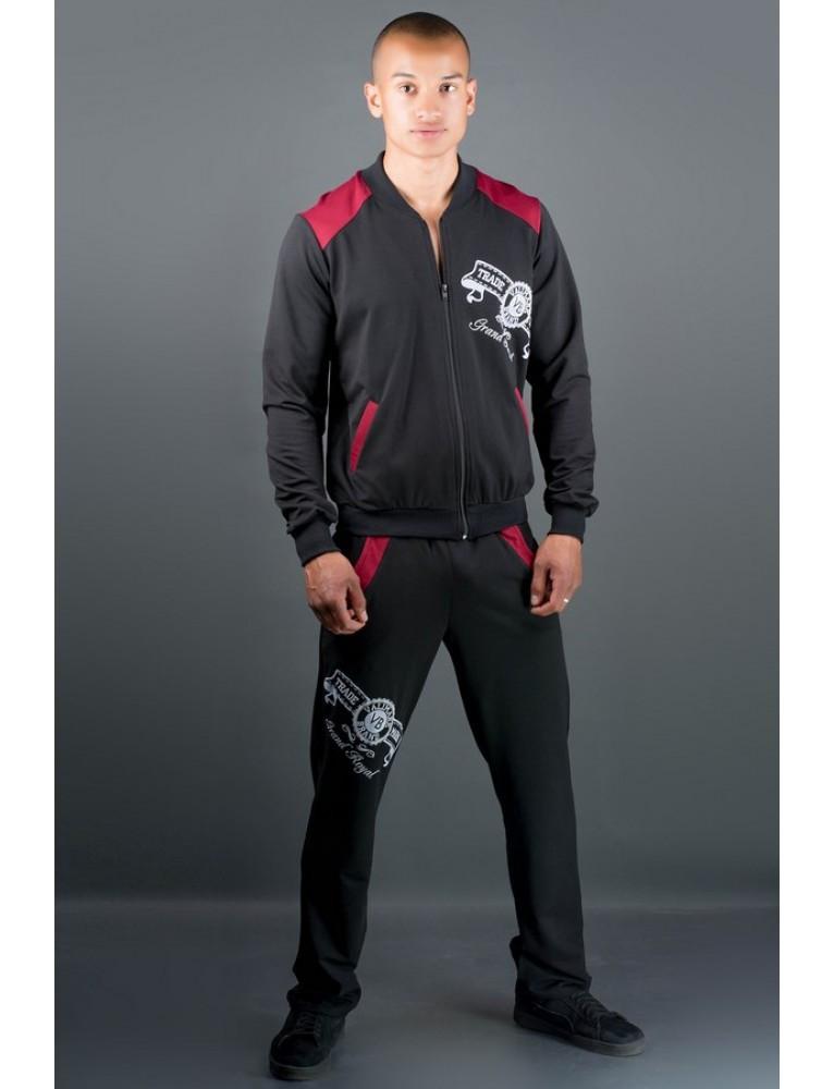 Спортивный костюм Митчел бордо/красный/серый