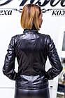 Куртка Женская Черная с Отстегивающимся Воротником 004МК Батал, фото 10