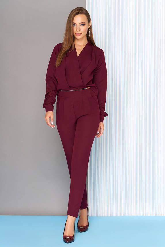 Комбинезон с длинными рукавами бордо, фото 2
