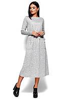 Теплое серое платье миди, фото 1
