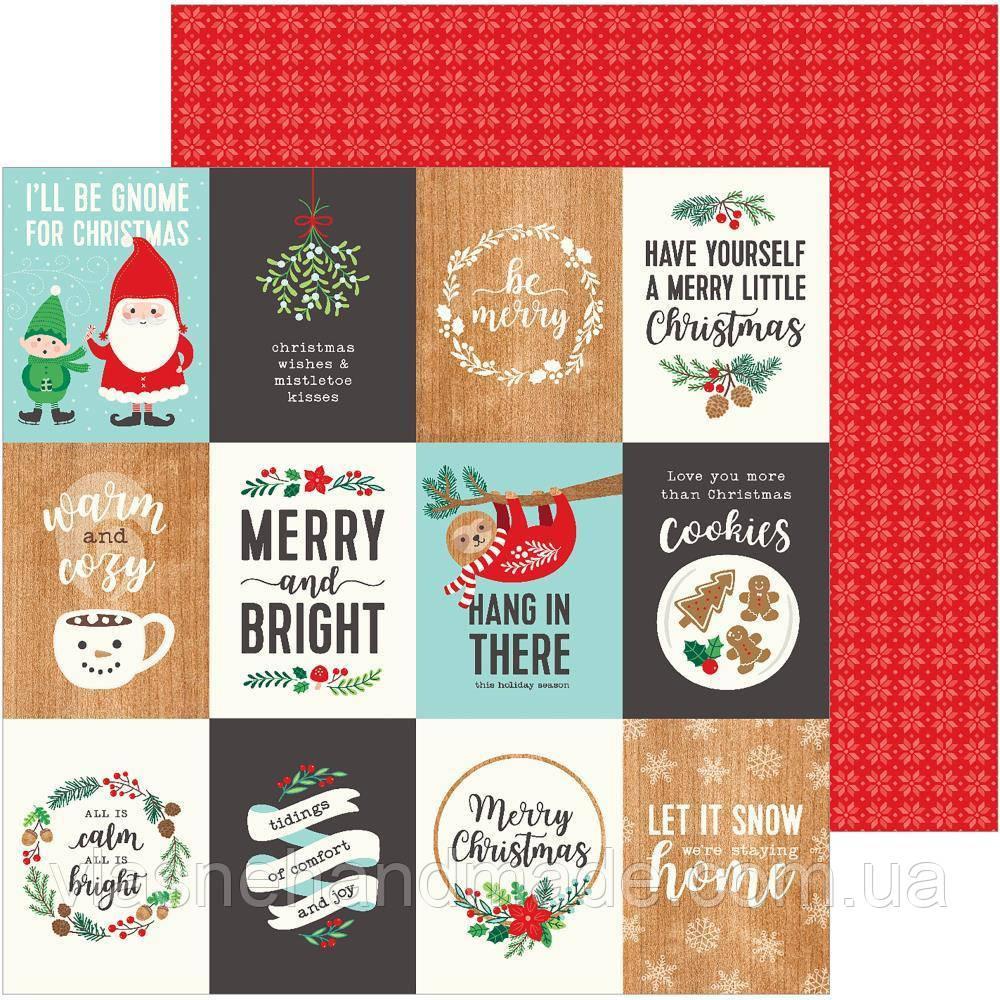 Папір двосторонній - Merru Little Christmas - Cozy & Bright - Pebbles - 30х30