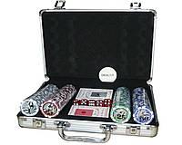 Покерный набор в алюминиевом кейсе с номиналом