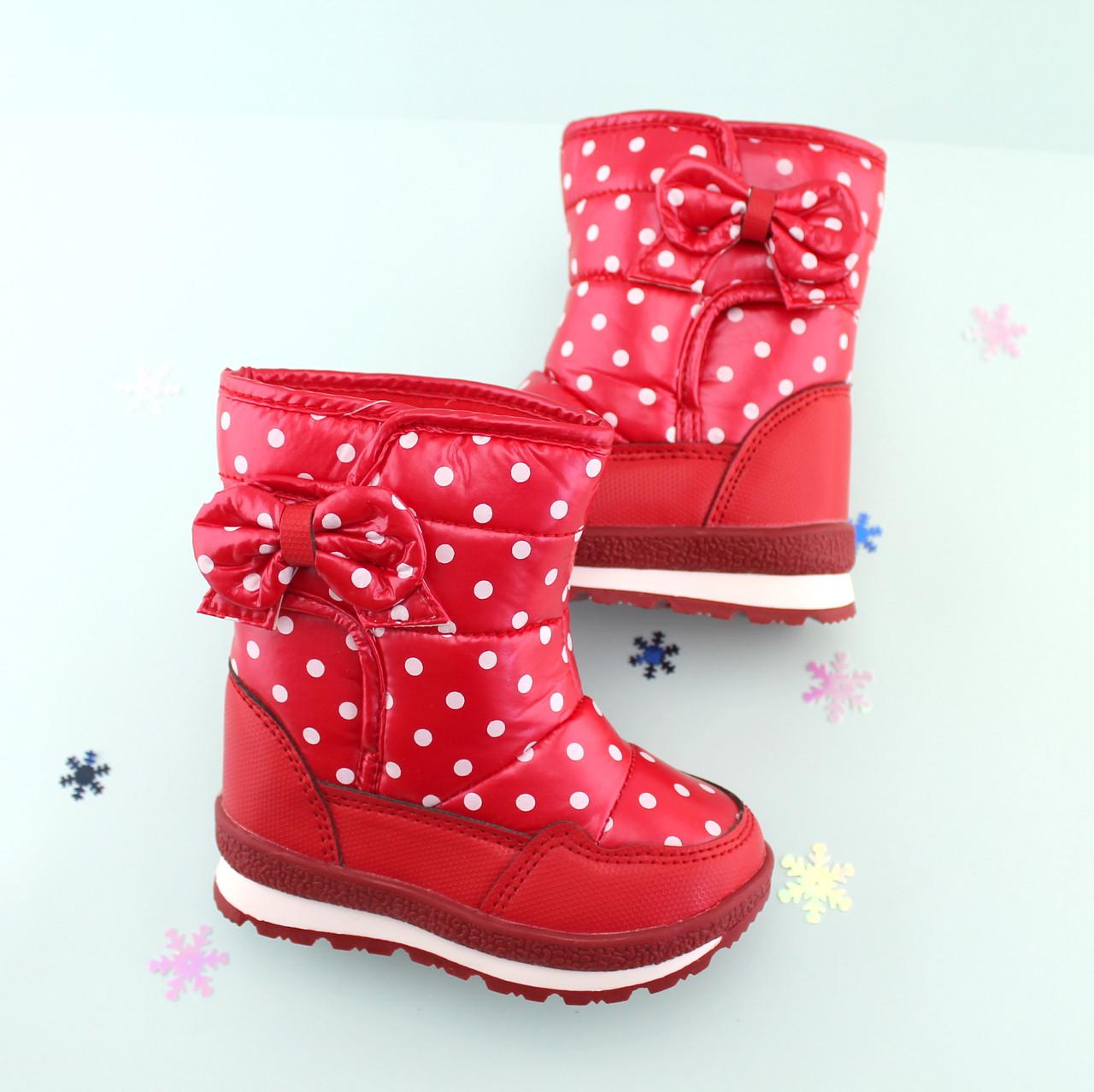 Детские термо сапоги на девочку Красные Том.м размер 30