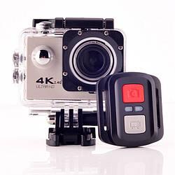 Action camera экшн-камера F60R с пультом и водонепроницаемым кейсом, wi-fi, экраном, креплениями