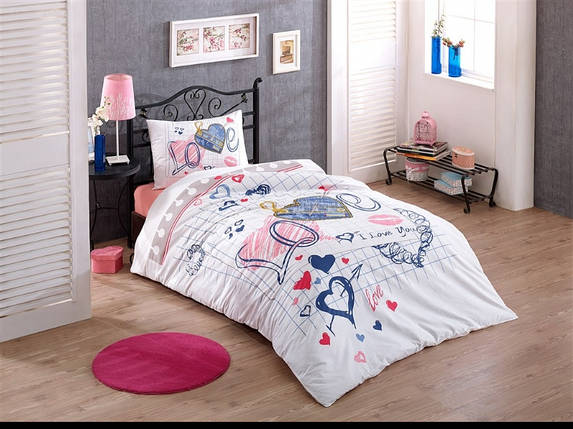 Подростковая постель Darling ранфорс (Турция) Европолуторный, фото 2