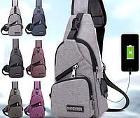 Мужская сумка через плечо, рюкзак, бананка, мессенджер Messenger