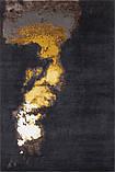 Шикарний дизайнерський вузликовий чорний килим Лава ручної роботи, фото 2