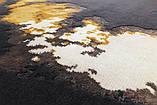 Шикарний дизайнерський вузликовий чорний килим Лава ручної роботи, фото 3