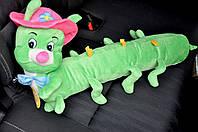Игрушка подушка в кроватку Гусеница зеленая