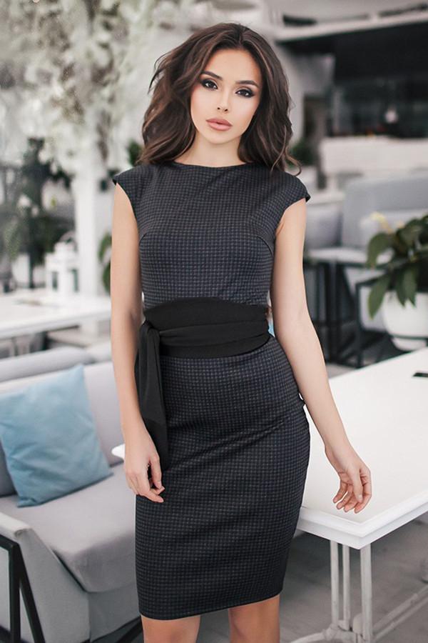 (S, M) Классическое женское платье Amori, темно-синий