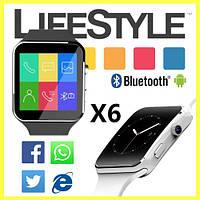 Умные часы-телефон Smart Watch X6 (E6, X6D) + Подарок!