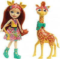 Кукла Enchantimals Энчантималс Джиллиан Жираф и Повл Gillian Giraffe s Fashion Dolls FKY74