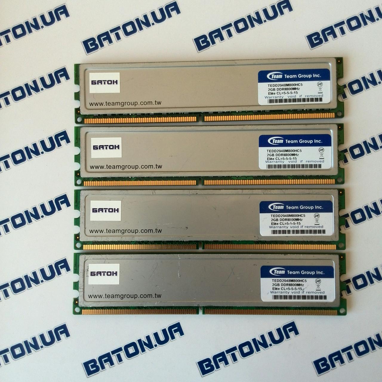 Игровая оперативная память Team Elite DDR2 8Gb 800MHz PC2 6400U CL5 (TEDD2048M800HC5)