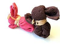 Подарок из махровых полотенец Влюбленные зайцы