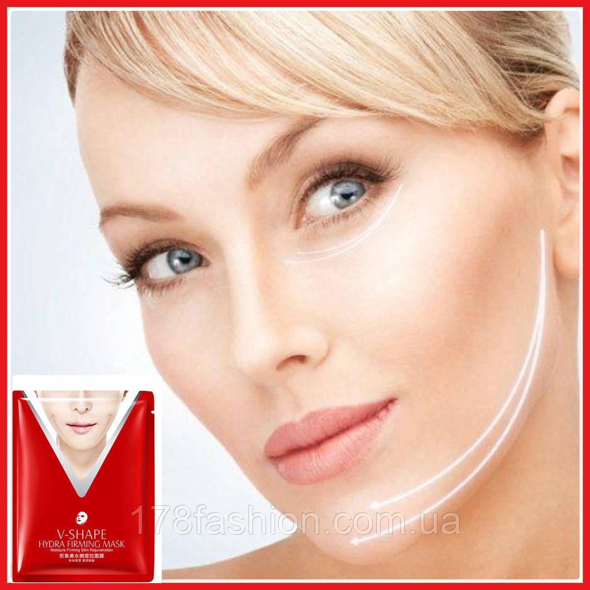 Тканевая маска для упругости и подтяжки овала лица с лифтинговым эффектом