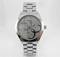 Годинник Guess 40mm Silver/Silver Quartz. Репліка