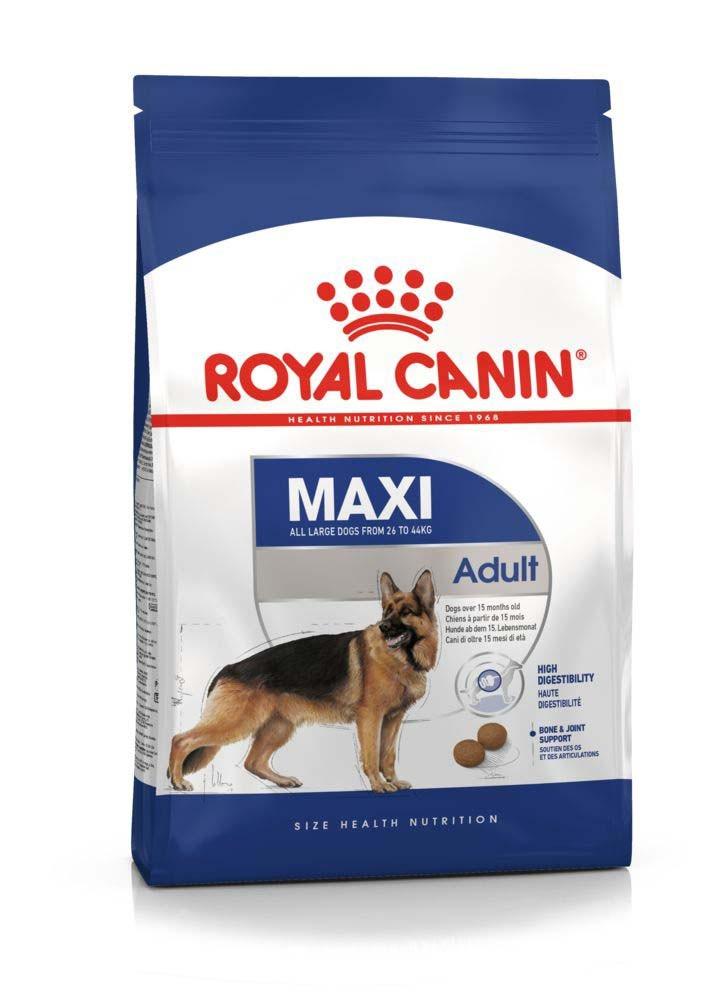Royal Canin (Роял Канин) Maxi Adult корм для собак крупных пород от 15 месяцев до 5 лет, 4 кг