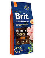 Brit (Брит) Premium Sport корм для собак с повышенными физическими нагрузками, 15 кг