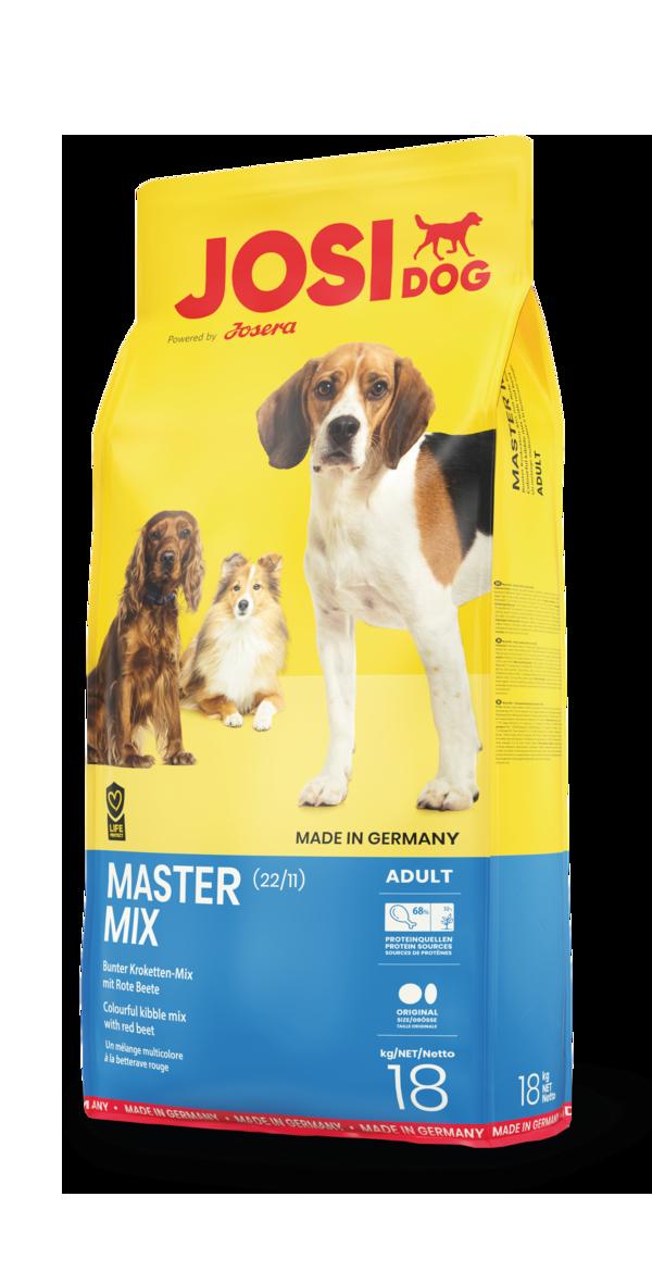 JosiDog Master Mix корм микс со столовой свеклой, 18 кг