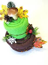 Торт из махровых полотенец  Боровик