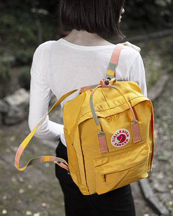 Рюкзак реплика Fjallraven Kanken / канкен желтый, фото 2