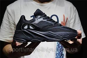 Кроссовки мужские черные Adidas Yeezy Boost 700 Black (реплика), фото 2