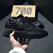 Кроссовки мужские черные Adidas Yeezy Boost 700 Black (реплика), фото 3