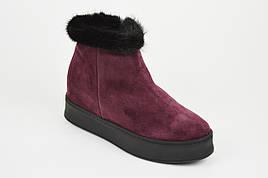 Бордовые ботинки с норкой Guero