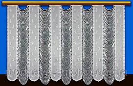"""Жаккардовый тюль """"Франция"""" (белый), высота 165 см"""