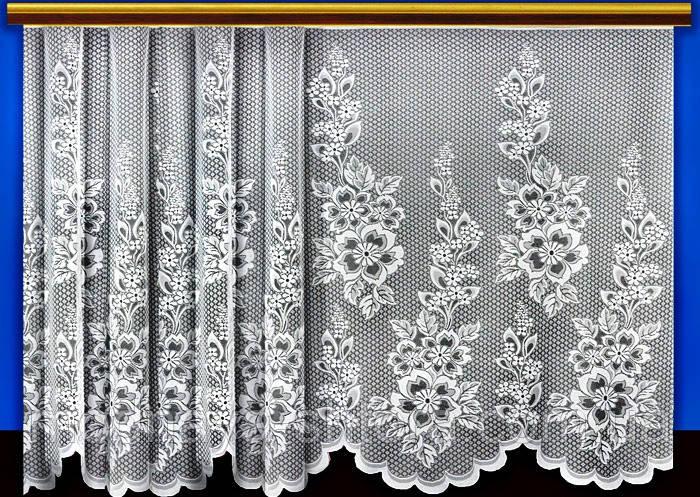 """Жаккардовый тюль """"Принцесса на горошине"""" (белый), высота 165 см"""